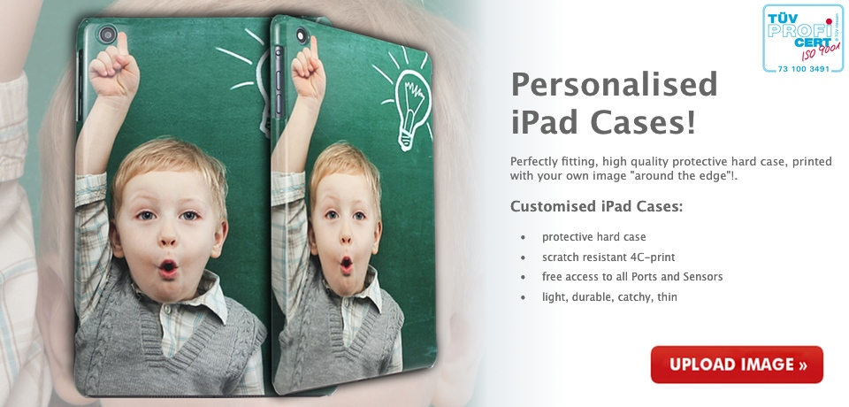 Personalised iPad Mini Cases - printed with your own image with high quality 4C printing technic!